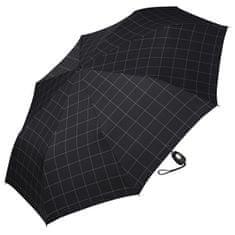 Esprit Męska parasol Gents Mini Tecmatic Check Black