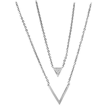 Troli Kettős acél nyaklánc háromszöggel