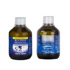 Pharma Activ Koloidné minerály 300 ml + Koloidné striebro Ag100 (10ppm) 300 ml