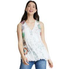 Desigual Ženska majica brez rokavov Ts Carnagy Blanco 20SWTKB1 1000
