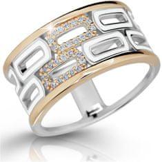 Modesi Exkluzívne strieborný prsteň so zirkónmi M11074 striebro 925/1000