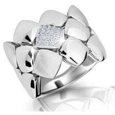 Modesi Dizajnový prsteň zo striebra M13045 striebro 925/1000