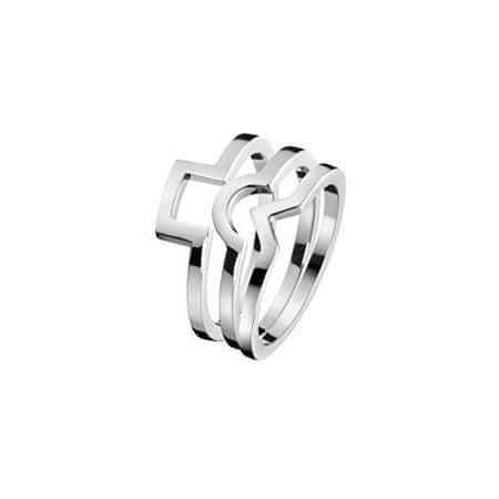 Calvin Klein Jekleni prstan 3 v 1 KJ4VMR0001 (Obseg 55 mm)