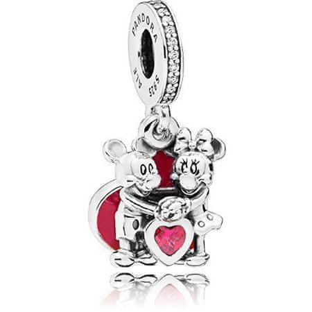 Pandora Romantyczny wisiorek Miłość do Mickey i Minnie 797769 CZ R srebro 925/1000