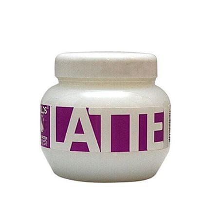 Kallos Latte regeneráló hajpakolás fehérjével és aminosavakkal (Latte Hair Mask) (mennyiség 275 ml)