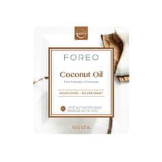 FOREO Vyživujúce pleťová maska Coconut Oil (Nourishing Mask) 6 x 6 g