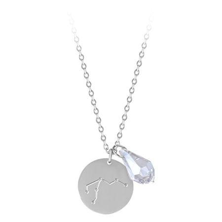 Troli Acél nyaklánc cirkónium kővel Vízöntő (lánc, 2x medál)
