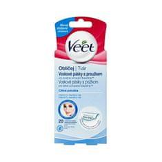 Veet Studené vosk. pásky na tvár pre citlivú pokožku 20 ks
