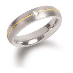 Boccia Titanium Titanový snubní prsten s diamantem 0130-06