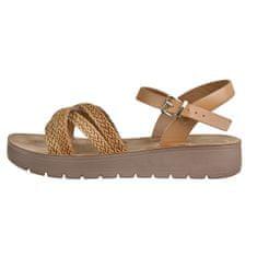 Verde Ženske sandale 28-3021 Beige