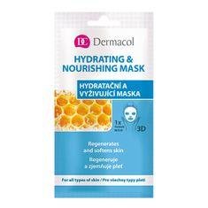 Dermacol Textilné hydratačná a vyživujúca maska pre všetky typy pleti 3D (Regenerates Softens Skin) 1 ks