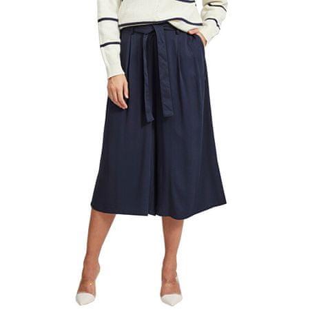 VILA Spodnie damskie VIVERO HWRX CROPPED PANTS / SU Navy Blaze r (Rozmiar 42)