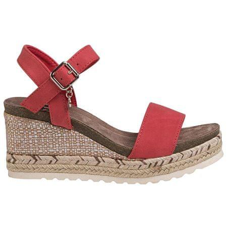 XTI Red Nobuk Pu Ladies Sandals 34242 Red női szandál (Méret 39)