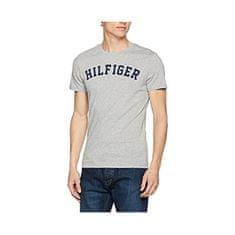 Tommy Hilfiger Męska koszula bawełniana wygodne Ikona SS Logo Tee Grey Heather UM0UM00054-4