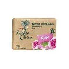 Le Petit Olivier Extra jemné mydlo Ruža (Extra Mild Soap) 100 g
