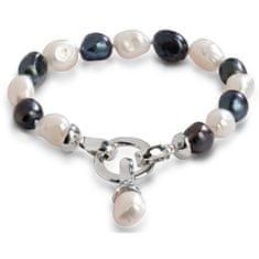 JwL Luxury Pearls Bransoletka z prawdziwymi perełkami w dwóch odcieniach JL0317
