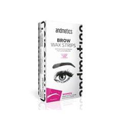 Andmetics Szemöldökformázó gyantacsík nőknek (Brow Wax Strips For Women)