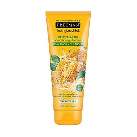 Freeman Głęboko oczyszczająca Maska gliny Manuka Honey & Olejek z drzewa herbacianego Uczucie piękne (Cleans (objętość 175 ml)