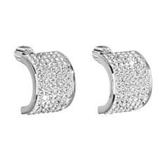 Evolution Group Csillogó ezüst fülbevaló 31195,1 kristály