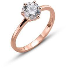 Oliver Weber Pozlačen srebrni prstan Brilliance 63222RG srebro 925/1000