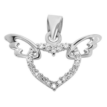 Brilio Silver Srebrny wisiorekserca ze skrzydłami 446 158 00041 04 srebro 925/1000