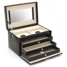 Friedrich Lederwaren Šperkovnica čierna / béžová Jolie 23254-20