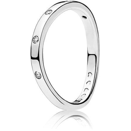Pandora Srebrni prstan s svetlečimi kamni 197113CZ (Obseg 50 mm) srebro 925/1000