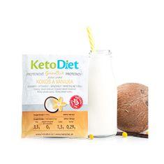 KetoDiet Proteínové smoothie príchuť kokos a vanilka 7 x 27 g
