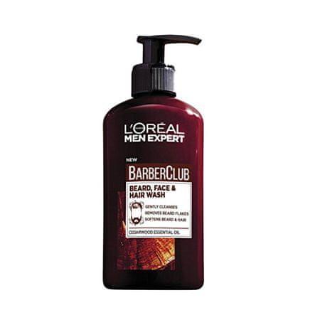 Loreal Paris Szakáll, arc és a hajápoló zseléBarber Club Gel 3v1 (Beard, Face & Hair Wash) 200 ml