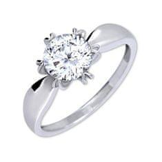 Brilio Silver Výrazný zásnubní prsten 426 001 00502 04 stříbro 925/1000