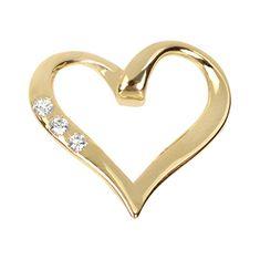 Brilio Zlatý přívěsek srdce s krystaly 249 001 00354