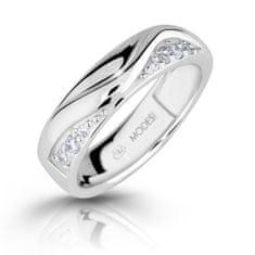 Modesi Módne strieborný prsteň so zirkónmi M16026 striebro 925/1000
