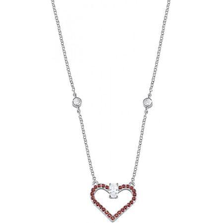 Morellato Ezüst nyaklánc csillogó szív medállal Cuori SAIV01 ezüst 925/1000