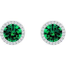 Preciosa Stříbrné náušnice Lynx Emerald 5269 66