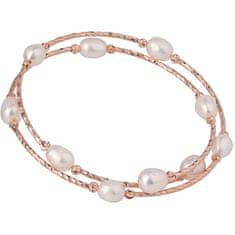 JwL Luxury Pearls Brąz bransoletka z prawdziwymi perłami JL0493