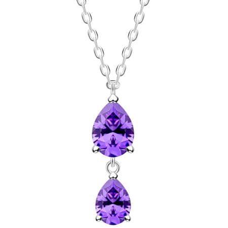 Preciosa Finom ezüst nyaklánc Lyra Violet 5264 56 ezüst 925/1000