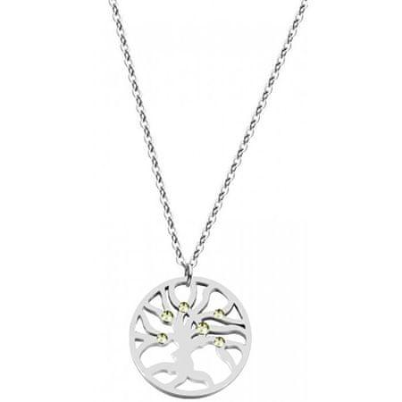 Preciosa Stalowy naszyjnik z kryształkami Olive 7335 53