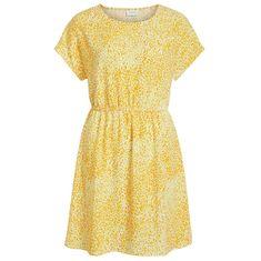 VILA Dámské šaty Laia S/S Dress Noos-Fav Nx Goldfinch