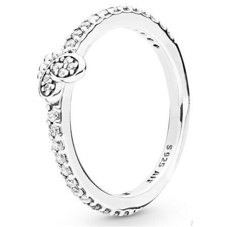 Pandora Srebrny pierścionek z motylem 197948 CZ (obwód 52 mm) srebro 925/1000