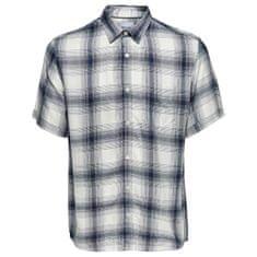 ONLY&SONS Pánská košile Samy Ss Reg Viscose Check Shirt Majolica Blue