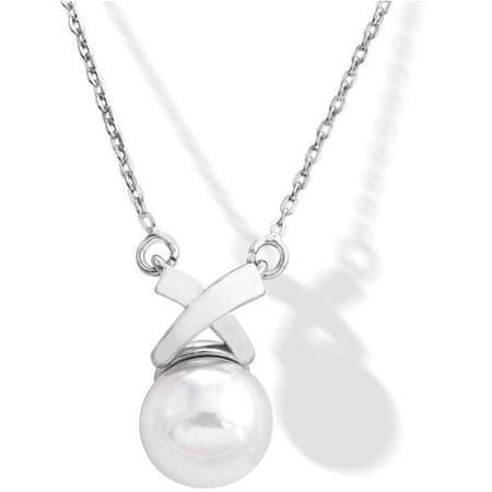 Majorica Srebrna ogrlica z bisernim 15298.01.2.000.010.1 srebro 925/1000