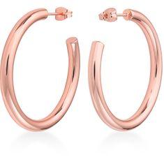 Rosefield Luxus rózsaszín aranyozott fülbevaló Iggy JCHBR-J082