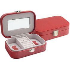 Jan KOS Czerwone pudełko na biżuterię SP-487 / A7