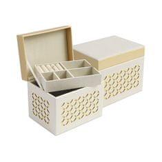 Jan KOS Beżowe pudełko z biżuterią ze wzorem SP-1855 / A20 / AU