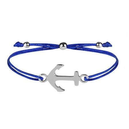 Troli Šňůrkový bransoletka z kotwicą niebiesko-stalową