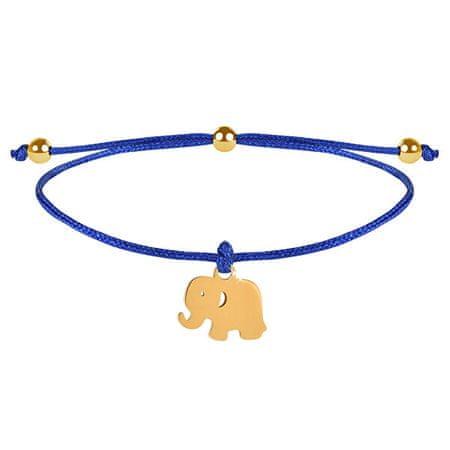 Troli String zapestnica Elephant modra / zlata
