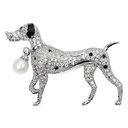 JwL Luxury Pearls Gyönyörű bross valódi gyöngy és kristályok JL0529