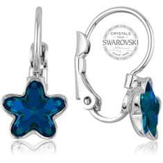 Levien Dívčí náušnice s modrým krystalem STARBLOOM
