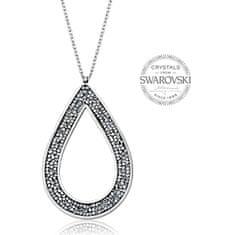 Levien Krásný náhrdelník s krystaly SS Rocks Pear 49 crystal