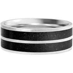 Gravelli Betonový prsten Fusion Double line ocelová/antracitová GJRWSSA112